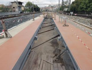 Obr. 13 Nosná konstrukce mostu přes ulici Otakarova