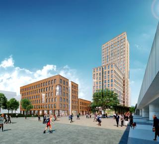 Obr. 16 Komplex budov HoHo (vizualizace)