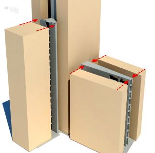 Obr. 18 Konstrukční systém 1 – schéma dřevostavby s betonovým jádrem