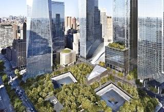 Obr. 01. Vizualizace nového komplexu WTC s budovou WTC Performing Arts Center, zdroj: DBOX