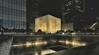 Obr. 10. Vizualizace nočního vzhledu prosvětleného pláště budovy, zdroj: DBOX