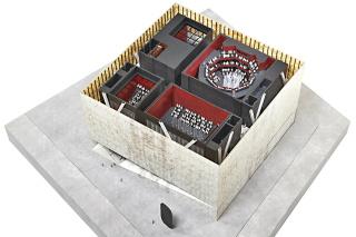 Obr. 11. Schéma tří sálů budovy v základním uspořádání, zdroj: DBOX