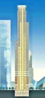 Obr. 15. Schéma svislého členění věže 3WTC (před jejím snížením v srpnu 2015)