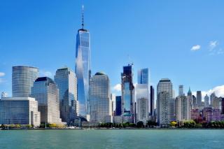 Obr. 20. Pohled od New Jersey na rozestavěný komplex WTC (listopad 2016)