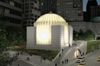 Obr. 06. Vizualizace pohledu na nový kostel zvýchodu, zdroj: Calatrava Valls