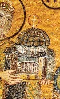 Obr. 09. Detail mozaiky sortodoxním chrámem, zdroj: Calatrava Valls