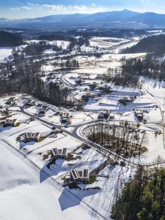 Nízkoenergetické domy Na Americe, letecký pohled