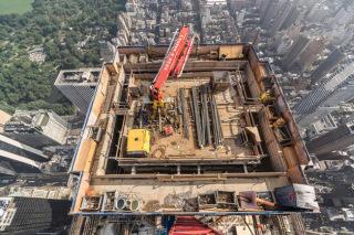 Obr. 17 Šplhací bednění Super Climber SCP firmy Doka pro betonáž jádra