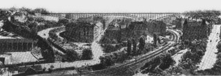 Návrh na Nuselský most nazvaný Volný rozhled autorů J. Chochola a Z. Bažanta, 3. cena, 1926
