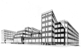 Návrh na ústřední budovu Elektrických podniků v Praze, 1927