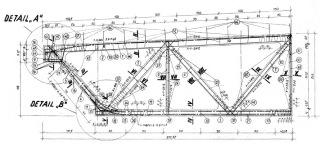 Obr. 02 Výkres výztuže střešního předpjatého vazníku SPP 12-18/6 – krajní segment [2]