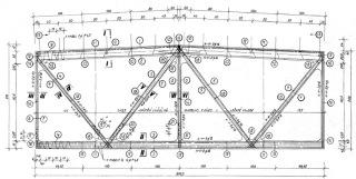 Obr. 03 Výkres výztuže střešního předpjatého vazníku SPP 12-18/6 – středový segment [3]