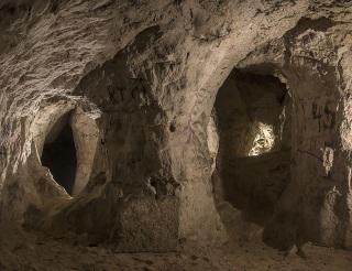 Obr. 01 Prostory v severní části podzemního systému bývalé Hamplovy pískovny (Močálky) vhodné pro zpřístupnění veřejnosti