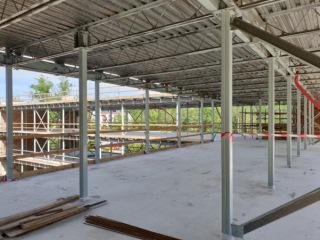 Obr. 08 Pohled na konstrukci skeletu budovy A1 a A2