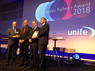 Udílení ceny European Railway Award 2018
