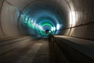 Úsek Amsteg, západní tunelová trouba, sekundární ostění