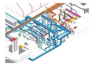 Strojovna vzduchotechniky administrativního komplexu COM CITY Moskva