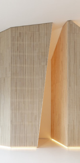 Obr. 12 Modlitebna, detail dřevěného obkladu boční kaple