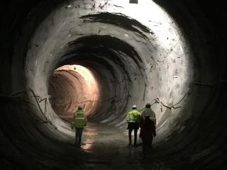 Přístupový tunel z depa do stanice metra Tekstilkent s primárním ostěním