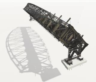 17 Sestava NOK a SOK, fáze otočení konstrukcí 135°. Model