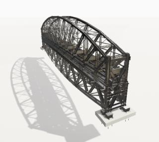 18 Sestava NOK a SOK, fáze otočení konstrukcí 180°. Model