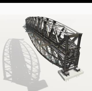 15 Sestava NOK a SOK, fáze sepnutí konstrukcí, otočení 0°. Model