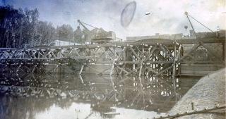 Pohled na skruž mostu, stav 1904