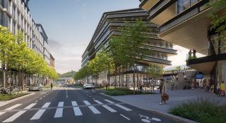 Budoucí podoba ulice Na Florenci, vizualizace