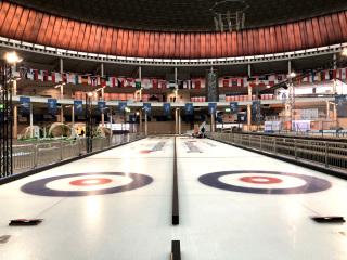 Obr. 07 Využití chladicího systému s žebrovými trubkami pro výstavbu curlingových drah