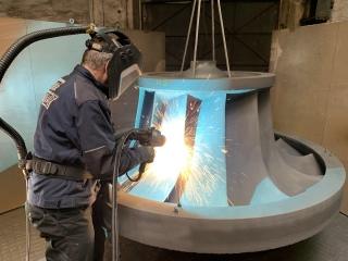 Metalizace lopatek oběžného kola