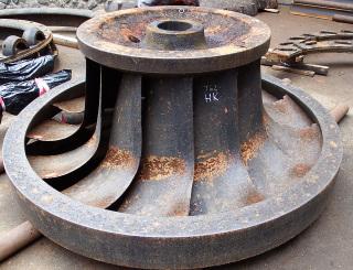 Původní oběžné kolo před opravou