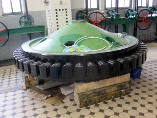 Rotor generátoru po demontáži a opravě