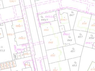 Obr. 4 Obsah digitální katastrální mapy v katastrálním území Lobzy (zdroj: http://data.cuzk.cz/vfk/)