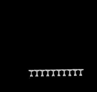 Obr. 1b Schéma mosta – schematický priečny rez