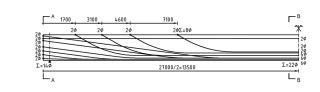 Obr. 4a Schéma vedenia predpínacích káblov