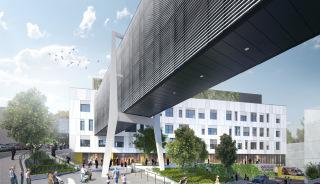 DGPN - Pavilon gynekologicko-porodnického a neurologického oddělení se spojovacími koridory v areálu nemocnice Pelhřimov, vizualizace