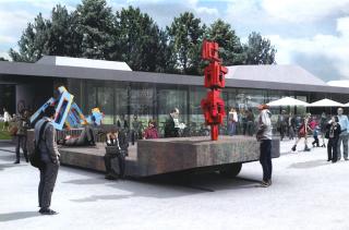 Obr. 08 - Nový vstup do Borského parku v rámci samostatné stavby revitalizace, vizualizace