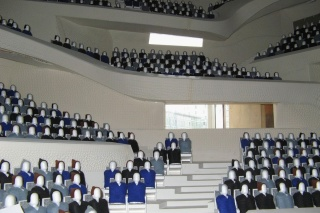 Obr. 17 Model Velkého sálu v měřítku 1 : 10 (říjen 2008)