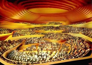Obr. 07 Původní návrh Velkého sálu z roku 2003