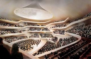 Obr. 07a Výsledné řešení Velkého sálu po zásahu akustika Toyoty