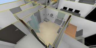 Obr. 12  Detailní pohled na zpracování 3D modelu