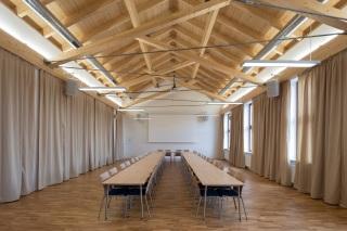 Konstrukce krovu v malém sále