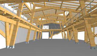Prováděcí projekt – velký sál