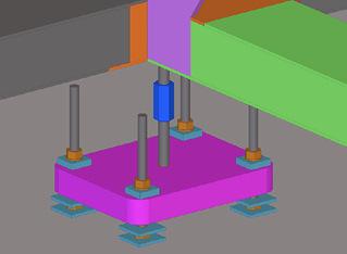 Obr. 16a Zavěšení betonové desky na superkonstrukci