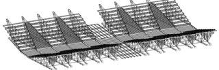 Obr. 17a Původní konstrukce nad sálem A