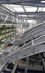 Obr. 21 Konstrukce zastřešení foyeru nad vstupem do O2 areny