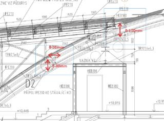 Obr. 19 Detail dilatace – spojovací krčky