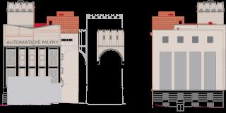 Obr. 10, 11 Pohled jižní, pohled severní – navrhovaný stav (zdroj: TRANSAT architekti)