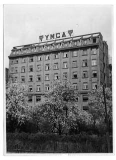 Fasáda paláce YMCA  – ulice V Celnici, původní stav (zdroj: archiv Palác YMCA, s.r.o.)
