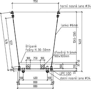 Obr. 03 Schéma konstrukce – příčný řez